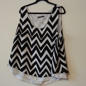 Black and White double layer cami